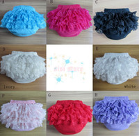 Wholesale Baby pettiskirt pants infant petto lace briefs ruffle PP underpants toddler girls bloomer clothing