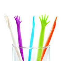 Wholesale 20pcs Help Me Hand Drink Stirs Cocktail Stir Sticks Swizzle Sticks Worldwide