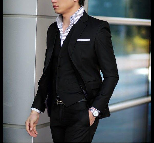 Black Suits For Men Wedding Men 39 s Slim Black Suit And