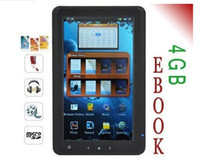 Wholesale 7 inch GB touch screen e book reader with retail box DHL