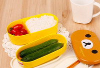 Wholesale or Retail colors Relax Bear heat preservation lunch box Rilakkuma Bento Box Free shippi