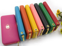 Wholesale Litchi Grain Soft PU Leather Wallet Purse Clutch Hand Bag WOMEN PU Leather Handbags Totes
