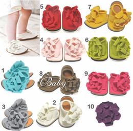 Wholesale BABY Sandals baby Barefoot Sandal children s Red Girl Shoes Toddler flower Shoes pairs