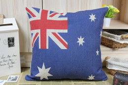 Wholesale Novelty gift Australian Flag The Union Jack stars pattern cushion cover home car decorative throw pillow case
