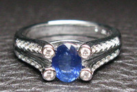 Wholesale CERTIFIED CT SOLID K WHITE GOLD STUNNING SAPPHIRE DIAMOND WEDDING Engagement RING