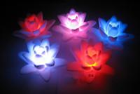 Wholesale Lotus LED Light Colors Changing floating water Wishing Lotus Light Water lanterns