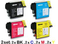 Wholesale 8 sets ink Cartridges for Brother LC DCP CW DCP CW MFC C