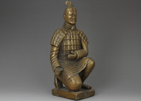 Wholesale CHINESE HANDWORK TERRA COTTA WARRIORS OLD COPPER STATUE
