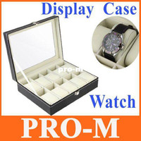 Wholesale Watch Display Case Jewelry Collection Storage Organizer Leather Box Grid Free Dropshipping