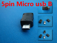 Wholesale FREESHIPPING SETS USB Type B Micro USB Male Pin Plug Connector JACK Adapter Socket DIY