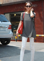 Wholesale 907 Japanese and Korean clothing popular hot fashion strapless classic striped long se
