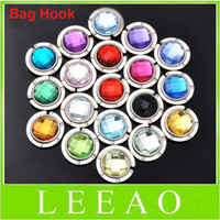 Wholesale Lowest price fashion diamond ruby jewel folding Bag Hanger holder Purse Hook purse hanger