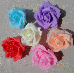 50pcs PE Foam Artificial Rose Camellia Flower Heads Wedding Christmas Party Decoration