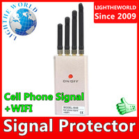 Wholesale W45 Portable GSM CDMA DCS PHS G WiFi Mobile Cell Phone Signal blocker protector