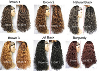 Wholesale 2015 Long Curly Half Wig Fall Wig Hair Fall colors optional