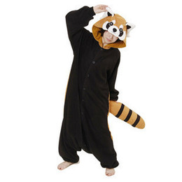 Wholesale New Unisex Kigurumi Animal Pajamas Cosplay Costumes Onesie Pyjamas Racoon