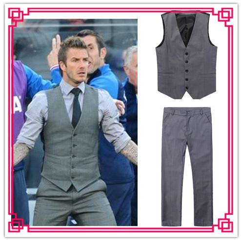2017 Two Piece Suits Men's Vest Suits Casual Gilet Trousers Vest   ...