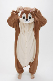 Wholesale Hot Sell New Unisex Kigurumi Animal Pajamas Cosplay Costumes Onesie Pyjamas Chipmunks S M L XL