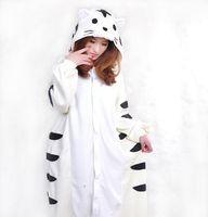 Wholesale Hot Sell New Unisex Kigurumi Animal Pajamas Cosplay Costumes Onesie Pyjamas White Tiger S M L XL