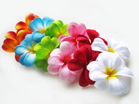 Wedding   Hawaiian Plumeria Frangipani Artificial Silk Flower Heads 3''mix 6 color II