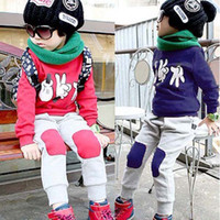 7T-8T Boy Spring / Autumn Free shipping 5sets lot Kids Autumn Clothes Set Children Suits Baby Costumes