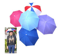 Wholesale New styles Foldable Golf Fishing Hunting Camping Sun Brolly Umbrella Hat Cap