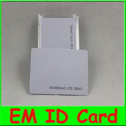 Wholesale 10pcs RFID EM Khz Proximity slim ID Cards Credit Card Size Card Access Control Proximity