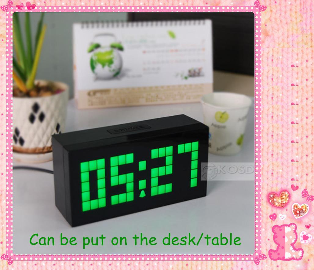 Large Jumbo LED Clock Display in DeskTable Digital Clock Digital