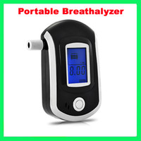 Wholesale Portable Professional Alcohol Tester LCD Digital Breath Alcohol Tester Breathalyzer Black AT