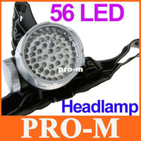 Wholesale 56LED High Power Led Headlight Head Lamp Front Light Flashlight for Hiking Waterproof Torch