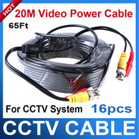 Wholesale 16pcs BNC M Security CCTV Power Video Plug and Play Extension Cable for CCTV Camera