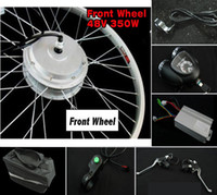 Wholesale 48V W Bicycle Conversion Kits Bicycle wheel Kit Electric E bike Front wheel Safety warning Light