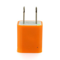 Wholesale US AC to USB Power Charger Adapter Plug for iPod iPhone Orange