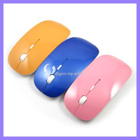 Wholesale 2 G wireless clever Mouse Optical Cordless Mouse Mini mouse for laptop colorful wirealess mouse