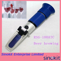 0-32%Brix; SG: 1.000-1.120 beer brewing kits - Hand Held Home Beer brew Wine Brewing Brewing Kits Refractometer Brix Blue Grip RSG ATC