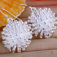 Gift beautiful blooms - Hot Sale Fashion Silver Beautiful Blooming Dandelion Women s Earrings Jewelry