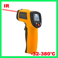 Wholesale Brand New Non Contact Digital IR Infrared Thermometer C LCD Display With Laser Gun