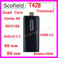 Wholesale Tronsmart T428 RK3188 Quad Core TV Box Android Smart Mini IPTV HDMI PC Stick Dongle GB GB BT