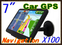 Wholesale 100pcs Hot selling inch Car GPS Navigator MB GB With FM map RW GN04