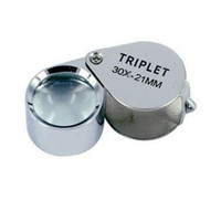Wholesale 10pcs brand new x mm foldable Glass Jewelers Loupes Eye Magnifier