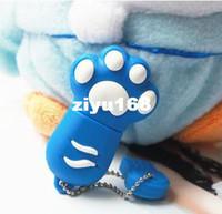 Wholesale M Cartoon Cat paw GB GB GB GB GBUSB Flash Memory Stick Drive Thum Car Pen U