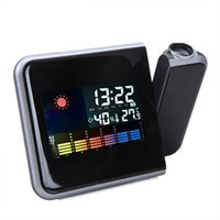 Digital Alarm Clocks  Free Shipping Digital LCD Screen LED Projector Alarm Clock Weather Station