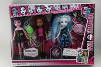 Wholesale Monster High Dolls Toy Set of PVC Action Figure Doll Hot Sale New In Box Gifts inches