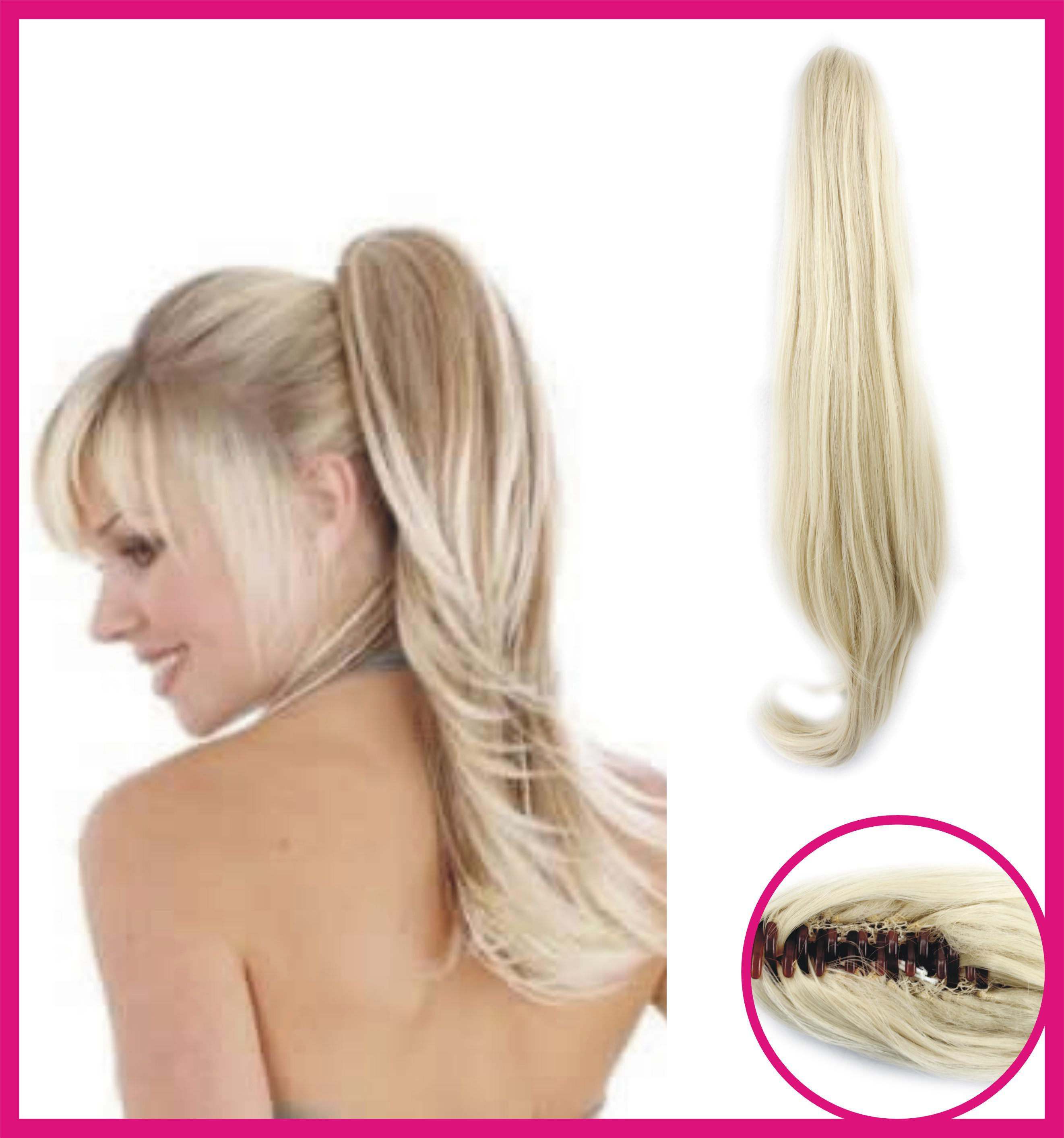 Blonde Ponytail Clip In Quality Hair Accessories