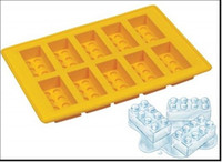 Wholesale New Lego Bricks Ice Bricks Tray Ice Tray Mold Maker Party Mould tools