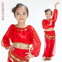 Wholesale Kids Girl Belly Dance Dancewear Children s Performance Wear Costume Set set