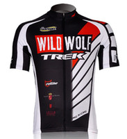 Wholesale Sportswear Trek Wild Wolf short cycling jersey shirt only Summer men bike clothing cycling wear