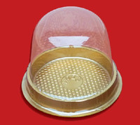 Wholesale 100pcs Plastic Single Individual Cupcake Muffin Dome Holders Cups Cases Boxes Cake Stand Fitting