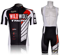 Wholesale Bike clothing TREK men cycling jerseys short sleeve and cycling bib shorts summer cycling clothes