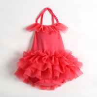 Wholesale baby sling skirt Ball Gown infant tutu jumpsuits toddler soft romper body suit LZ L0008